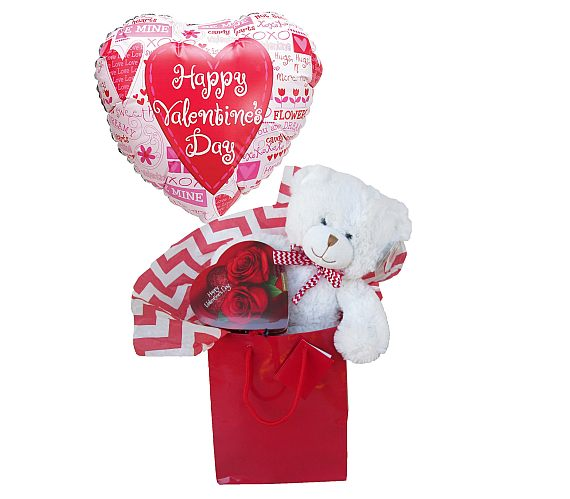 candy and bear valentines gift
