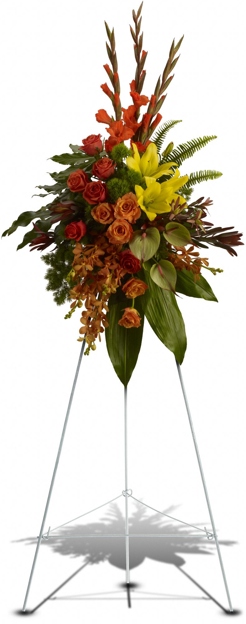 Elegant Tribute Spray Sympathy Arrangement Teleflora