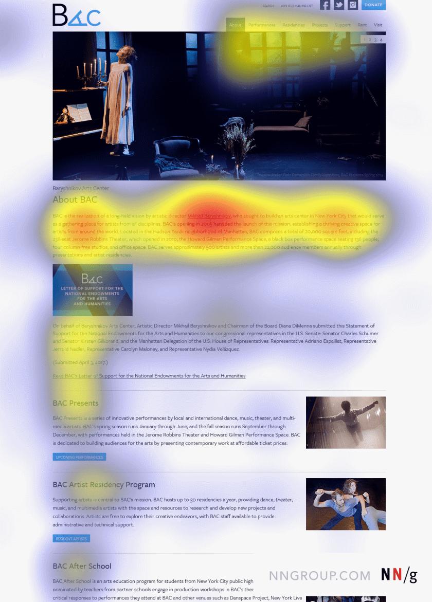 Большинство пользователей полностью проигнорировали голубой прямоугольник после первого текстового блока.