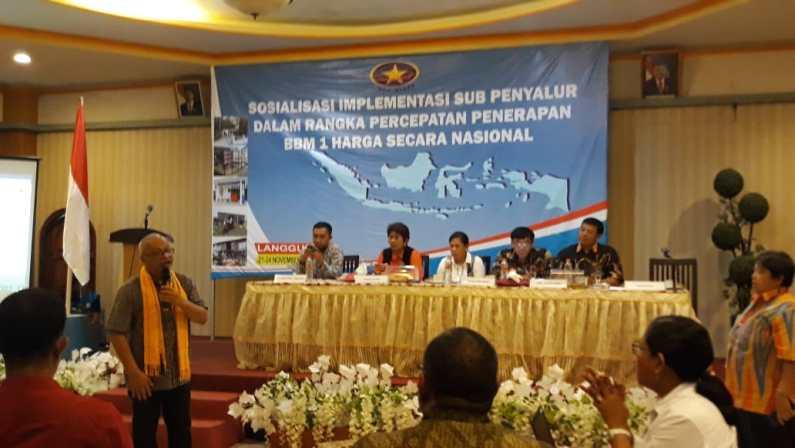 Kejar Pemerataan BBM Satu Harga BPH Migas Lakukan Sosialisasi Sub Penyalur Di Tual