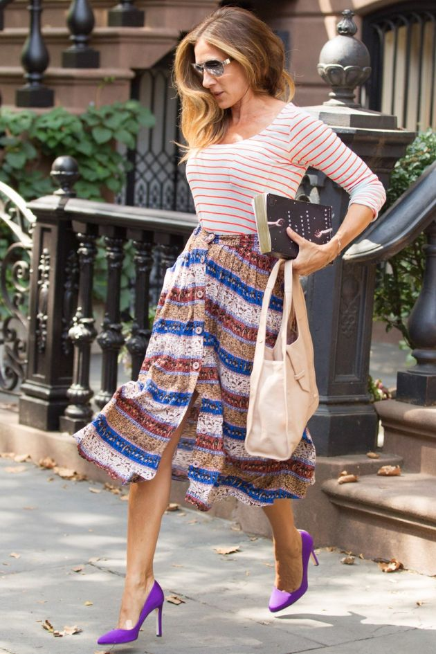 -New York, NY - 9/2/2014 - Sarah Jessica Parker Leaves her House with a Copy of The Book of Strange New Things by Michel Faber -PICTURED: Sarah Jessica Parker -, Image: 204197801, License: Rights-managed, Restrictions: , Model Release: no, Credit line: Profimedia, Startraks