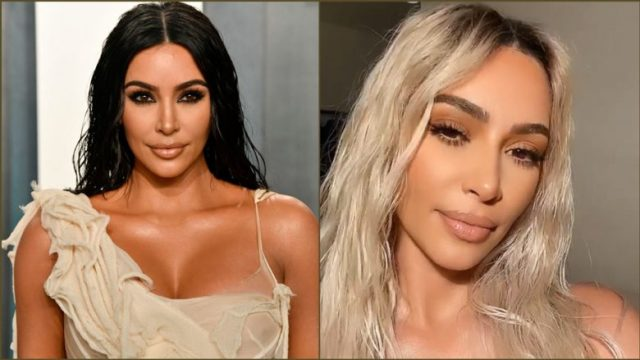 Kim Kardashian, si zeshkane dhe si bionde (Foto: Getty Images/Guliver/Screenshot/Instagram/kimkardashian)