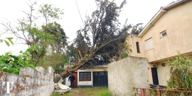 Temporal de viento en Villa Gesell