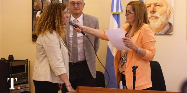 Myriam Oillataguerre asumió en reemplazo de Cristian Angelini (Fotos Ricardo Stinco).
