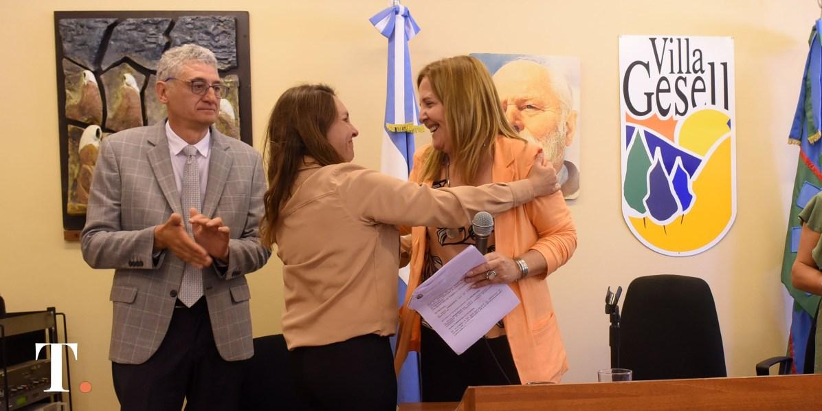 Analía Falcón, concjal oficialista (Fotos Ricardo Stinco).