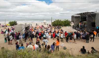 La playa en la zona de Paseo 113, en una tarde que no acompañó desde el clima.