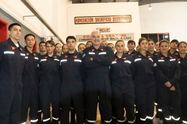 Abnegación, sacrificio y desinterés, el lema de los bomberos voluntarios de Santa Teresita.