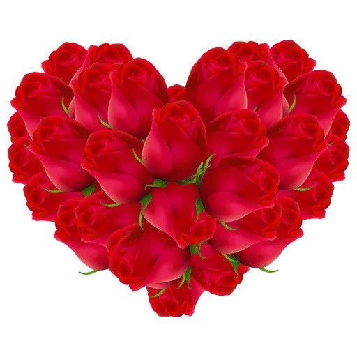 Стикеры Телеграмм - Сердечки и цветы