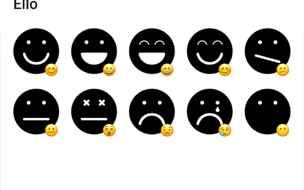 Ello emoji sticker pack