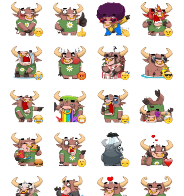 BullJoy sticker pack