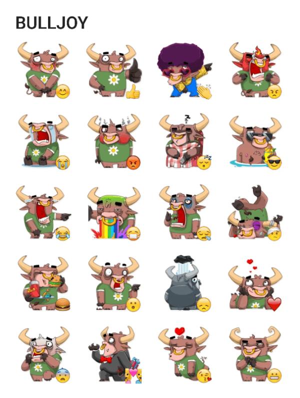 bulljoy-sticker-pack