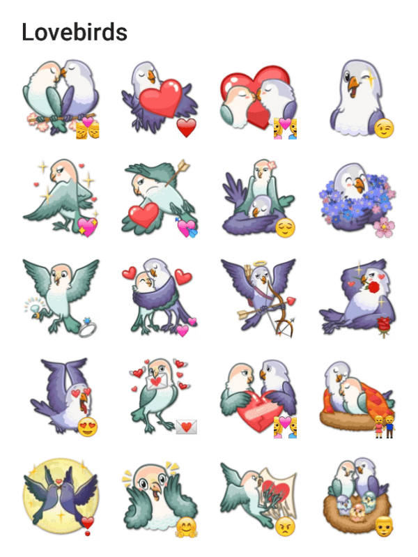 love-birds-sticker-pack