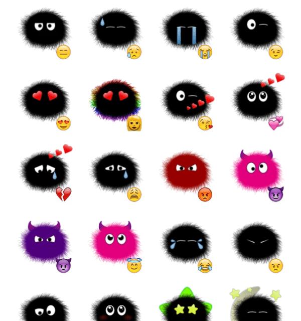 Soot Emoji Sticker Pack