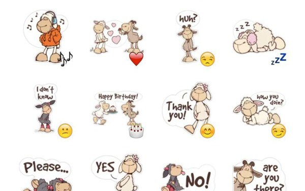 Cute Sheep Sticker Pack