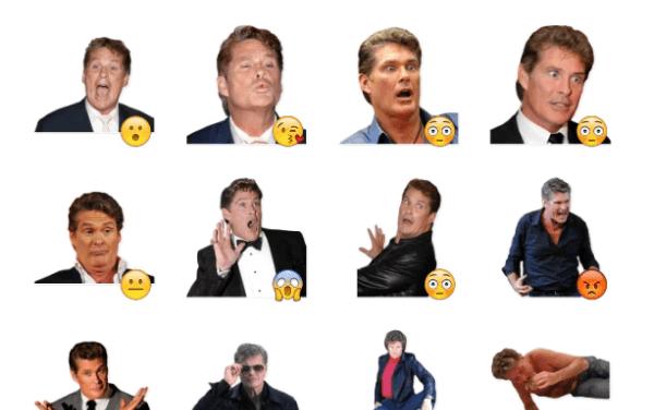 David Hasselhoff Sticker Pack