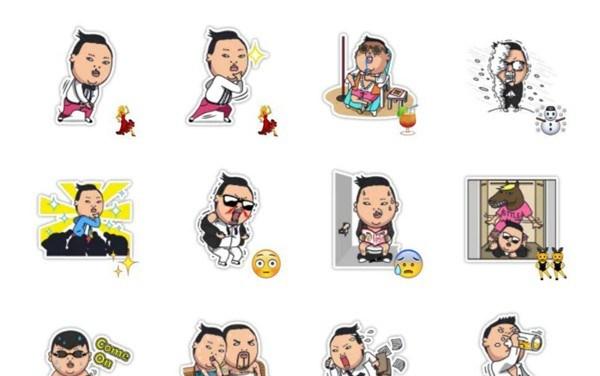 PSY – Gagnam Style Sticker Pack