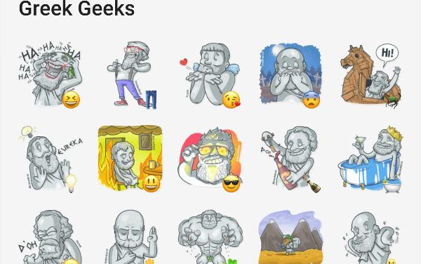 Geek Greeks Sticker Pack