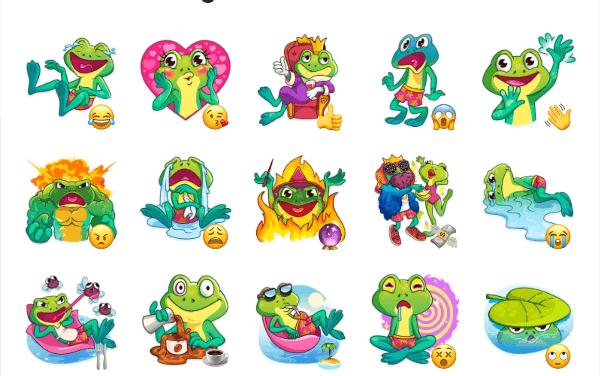 Oliver the Frog Sticker pack