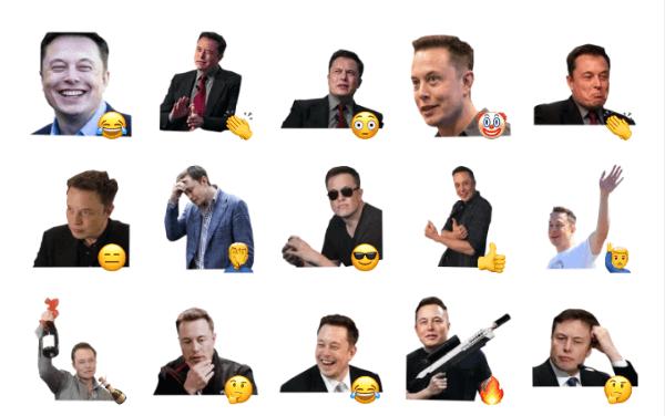 Elon Musk Sticker Pack