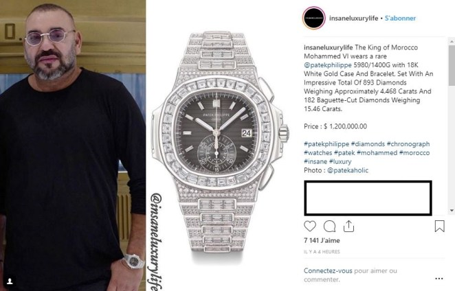 Morocco-Controversy: Mohammed VI shows off his $ 1.2 million watch (photo)