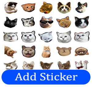 crying cat stickers