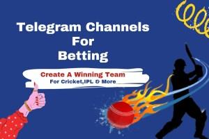 15+ Best Telegram Channels For Betting (Cricket, IPL Betting)