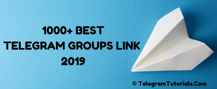 1000+ Best Telegram Groups Link 2020 - Telegram Groups List