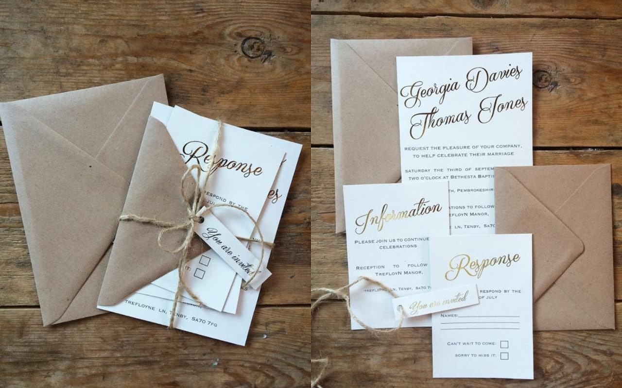 Tropical Forest Watercolour Wedding Day Invitation