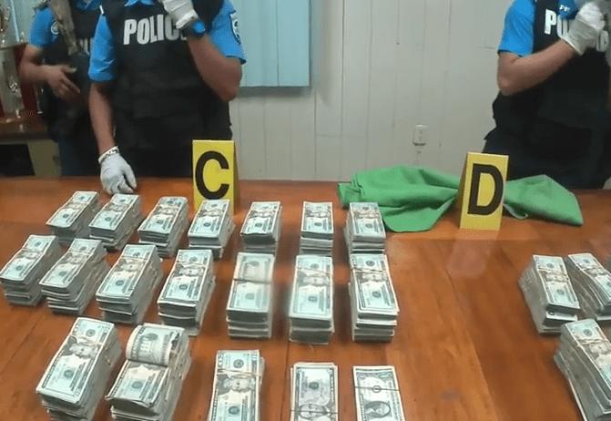 Policía Nacional incauta 300 mil dólares en puesto fronterizo.