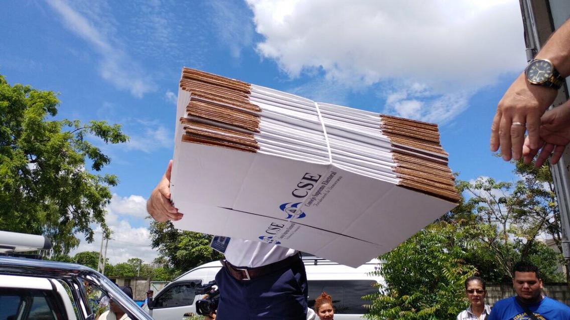 Llega material electoral auxiliar al departamento de Estelí