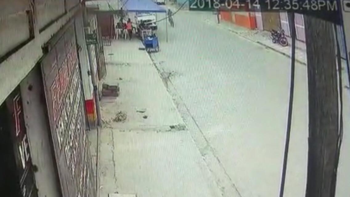Cámaras de seguridad captan accidente de motociclista en Estelí