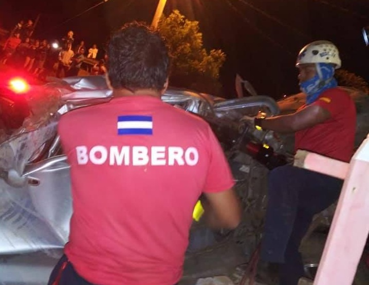Dos jóvenes fallecidos en accidente de tránsito en Diriamba, Carazo.