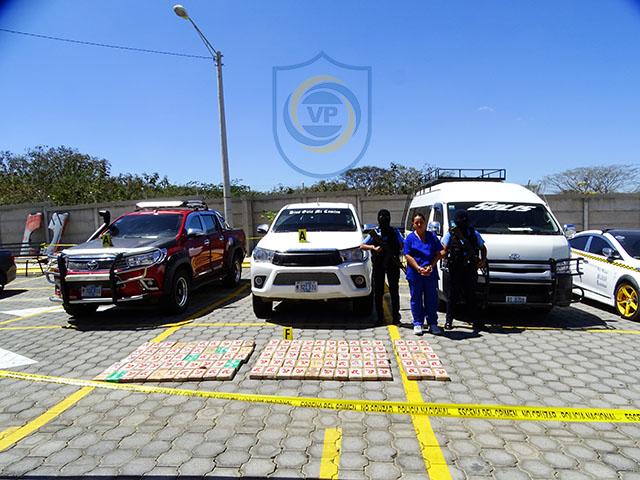 Policía Nacional incautó droga y 127 mil dólares.