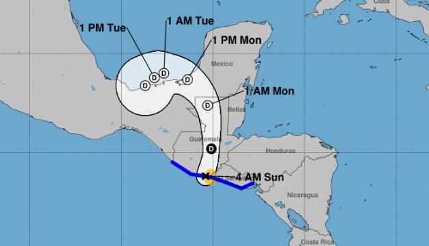 Tormenta Tropical Amanda impacta en frontera El Salvador – Guatemala
