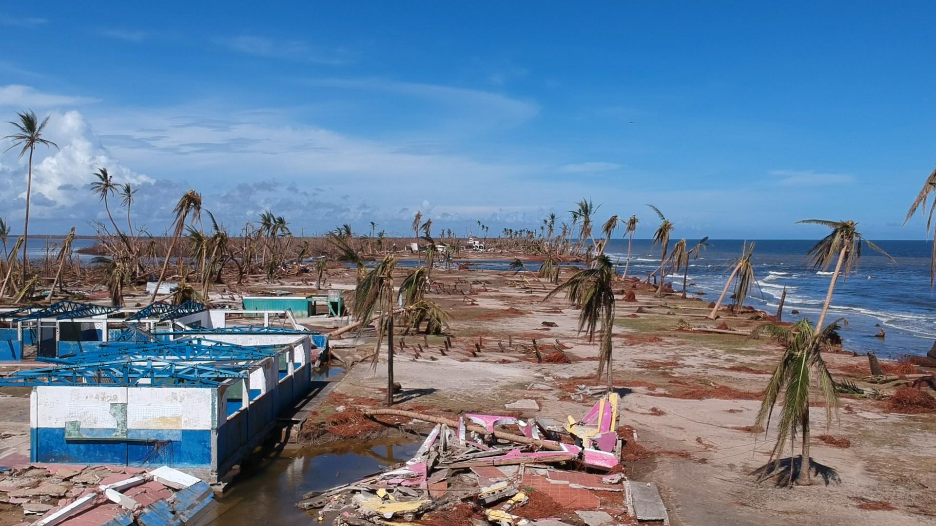Ojo de Iota partió en dos la comunidad donde tocó tierra en Nicaragua