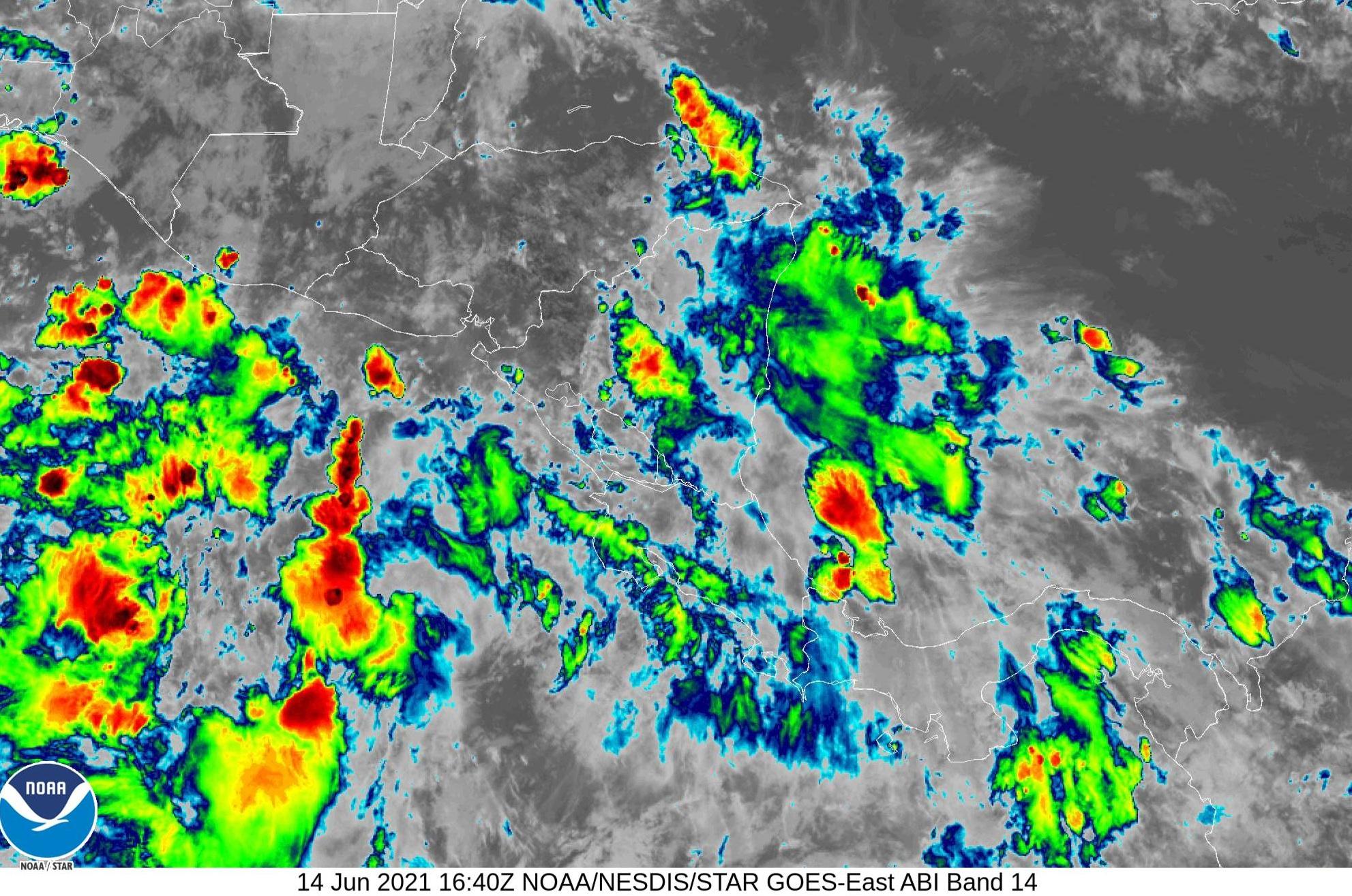 Pronostican lluvias de ligeras a moderadas en Nicaragua