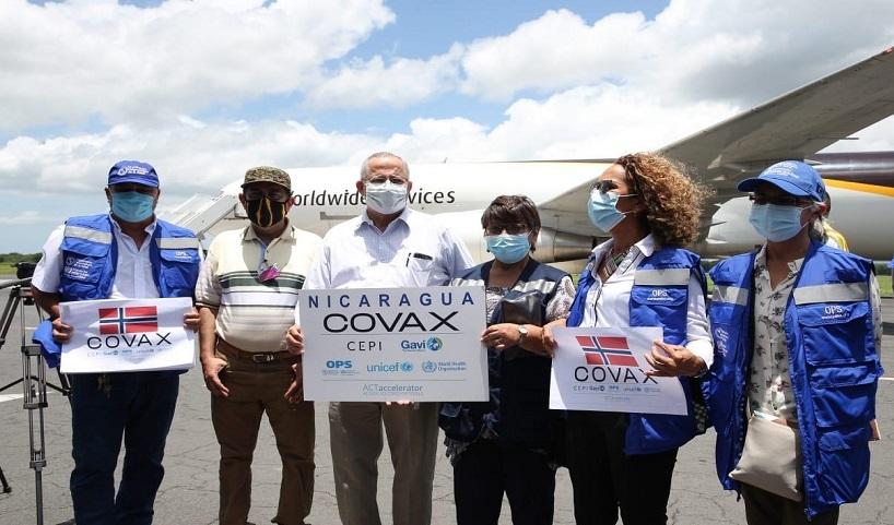 Nicaragua recibe primer lote de vacunas AstraZeneca a través de Covax