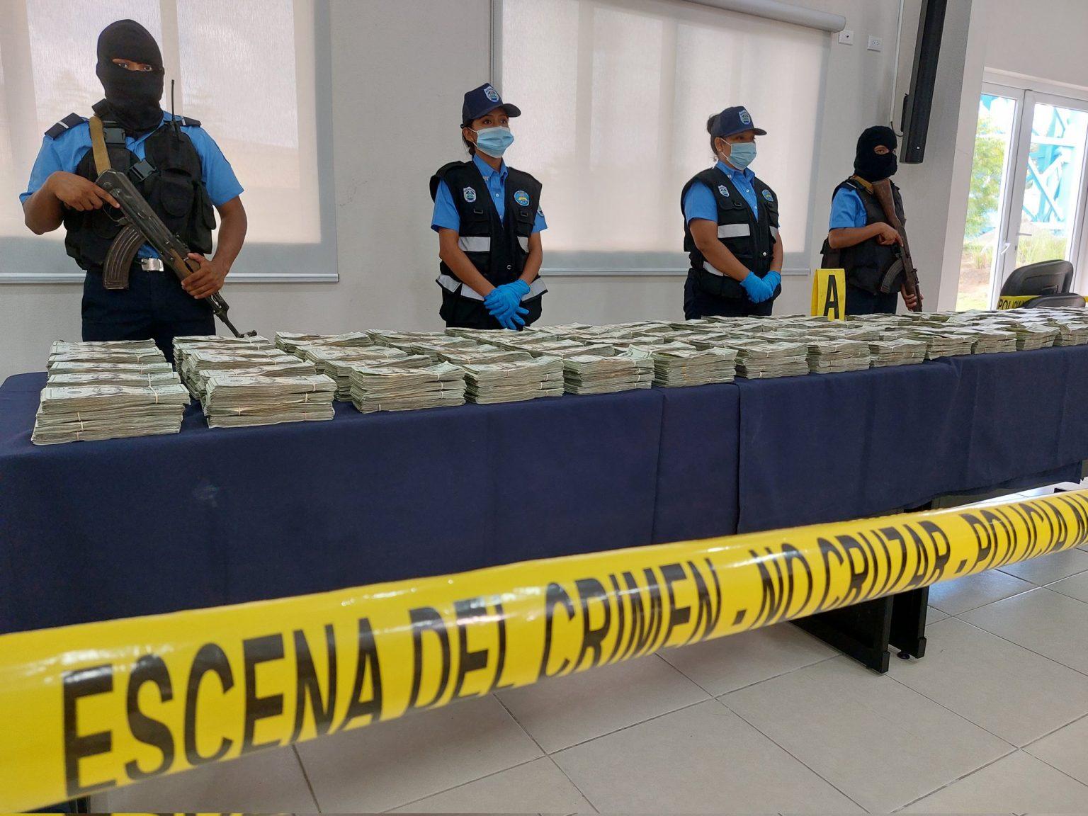 La Policía y Ejército de Nicaragua, incautaron más de 795 mil dólares