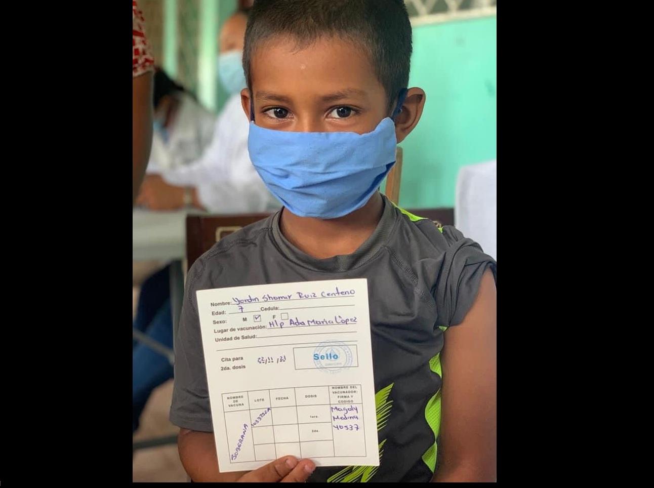 Nicaragua aplica vacunas de Cuba a niños y adolescentes