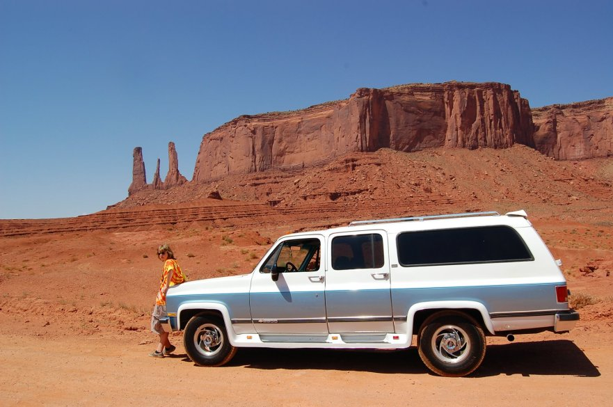 Big Blue and Conor at Monument Valley