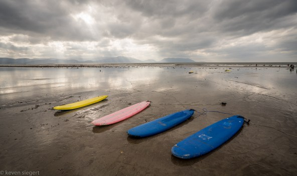 Boards at Inch Beach Ireland
