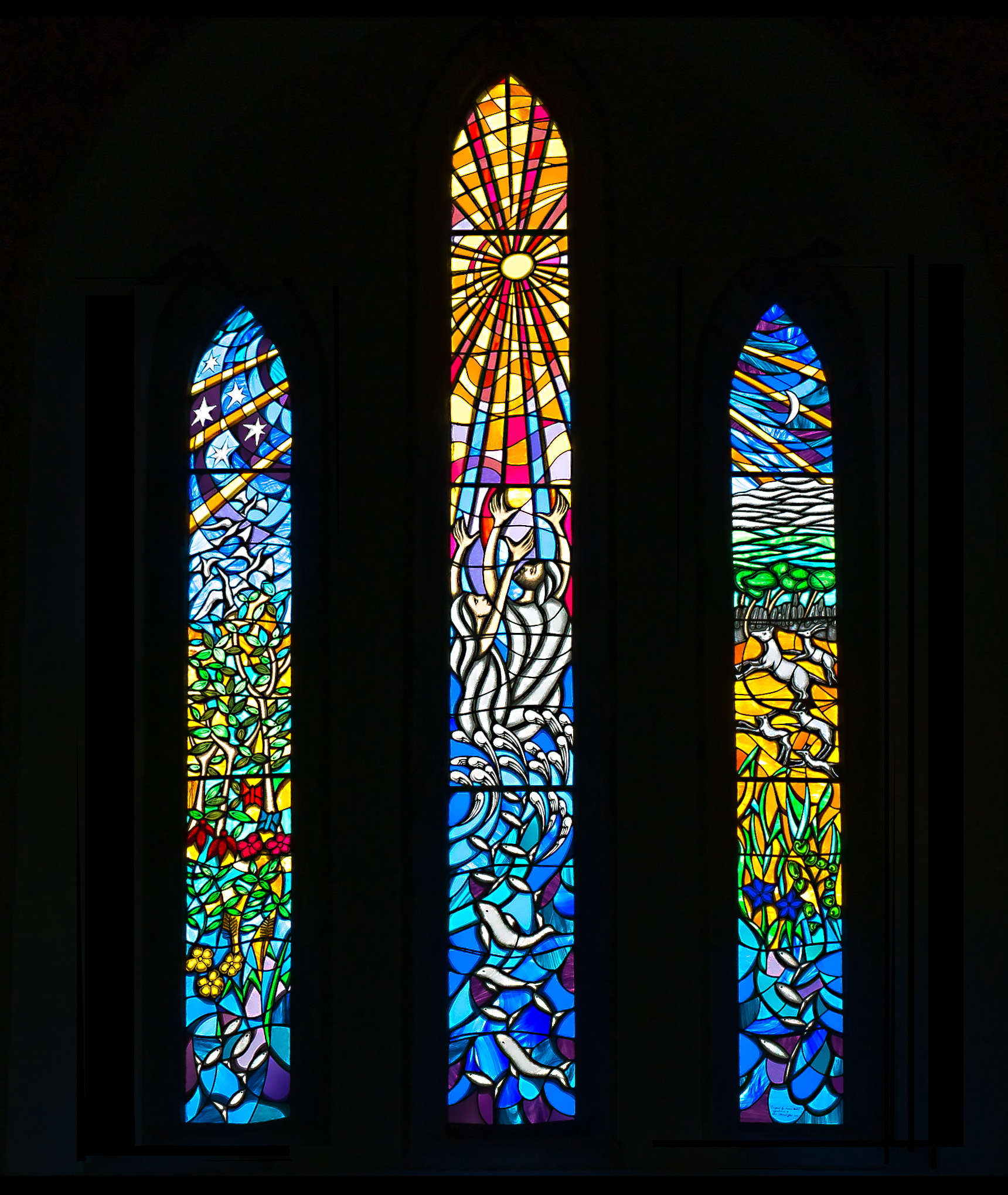 Saint John windows - Ballyvaughan