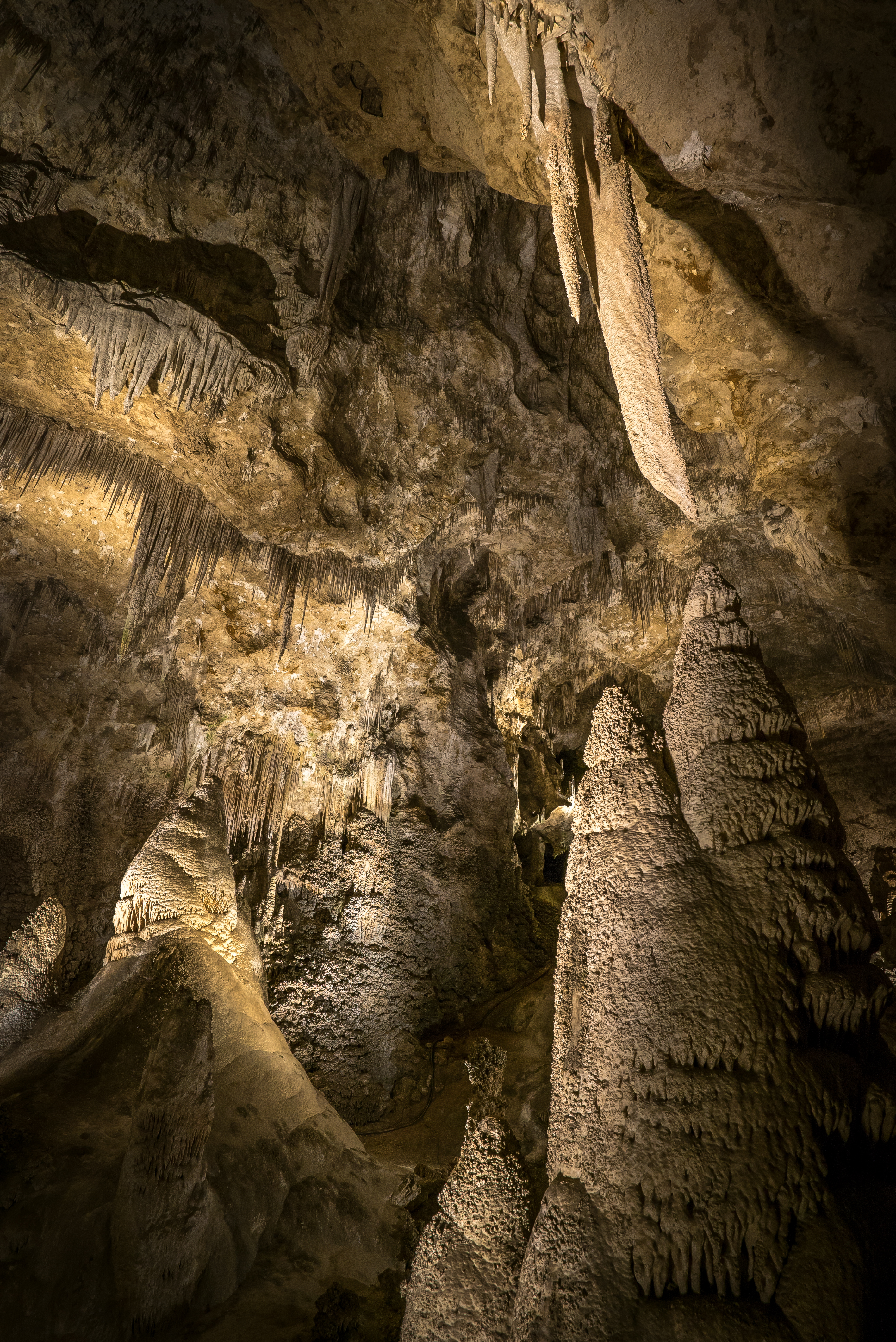 Stalagtites - Carlsburg Caverns National Park, New Mexico