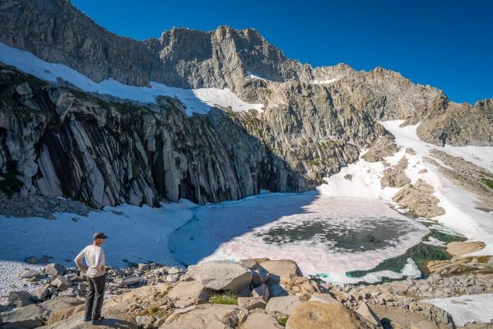 Frozen Precipice Lake