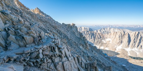 Approaching Mt Whitney