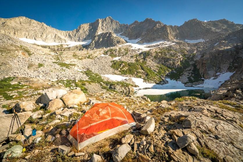 Campsite at Precipice Lake