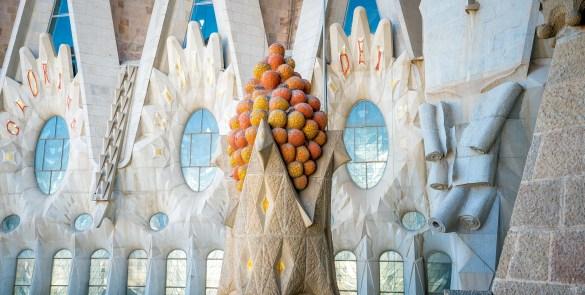 Basilica of the Sagrada Familia Tower Mosaic Detail