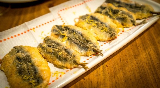Fried Anchovies Tapas