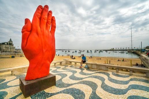Cascais Marina Red Hand