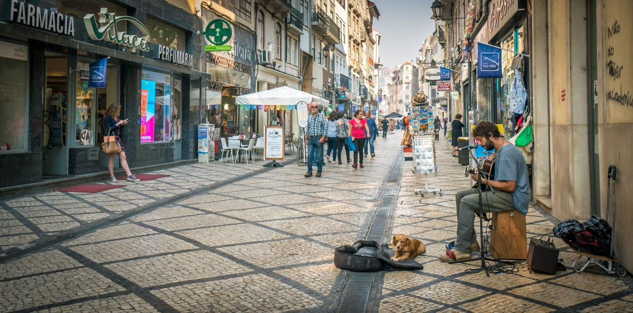 Street Musician in Coimbra WS
